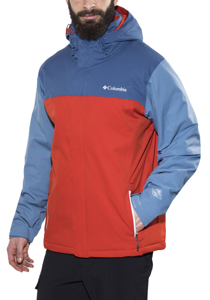 red mountain men Red mountain welded down jacket men from fåk is a warm down jacket for men to wear while skiing or on city walks the jacket has welded down panels instead of seams to prevent heat loss and protect the down from moisture the surface is impregnated with pfc free rudolf bionic finish for long durability and weather resistance.